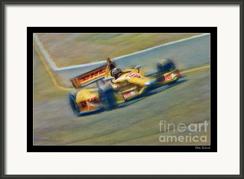 Ryan Hunter-reay Framed Print By Blake Richards