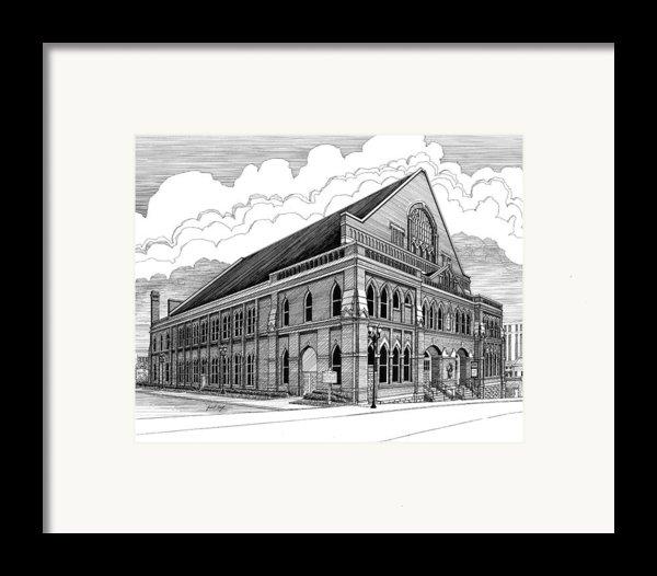 Ryman Auditorium In Nashville Tn Framed Print By Janet King