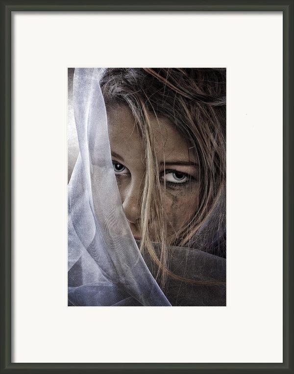 Sad Girl Ii Framed Print By Erik Brede