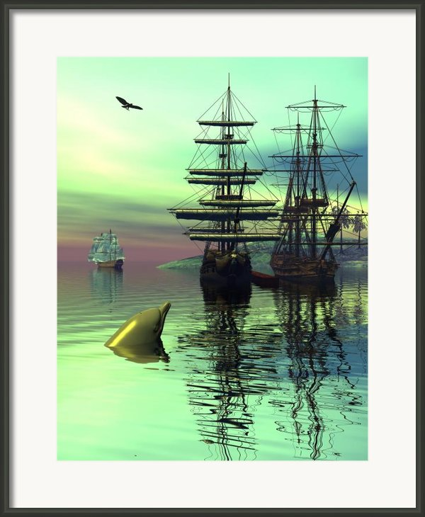 Safe Harbor Framed Print By Claude Mccoy
