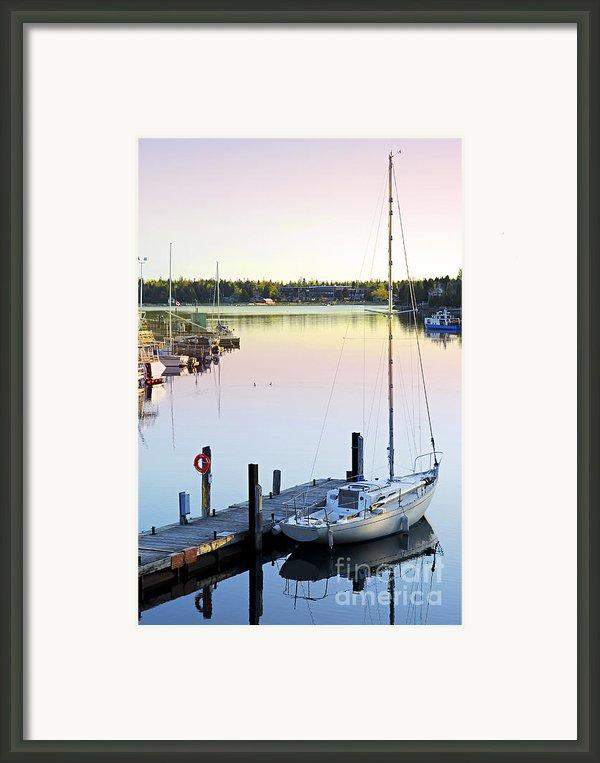 Sailboat At Sunrise Framed Print By Elena Elisseeva