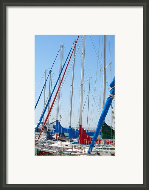Sailboat Masts Framed Print By Author And Photographer Laura Wrede