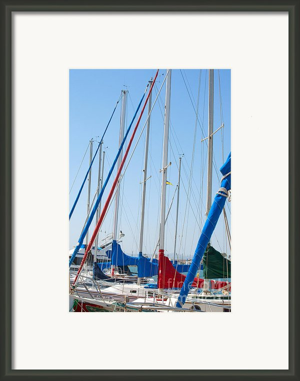 Sailboat Masts Framed Print By Artist And Photographer Laura Wrede