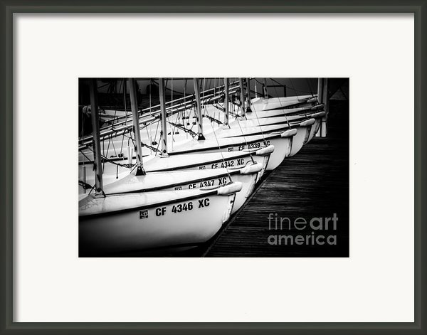 Sailboats In Newport Beach California Picture Framed Print By Paul Velgos