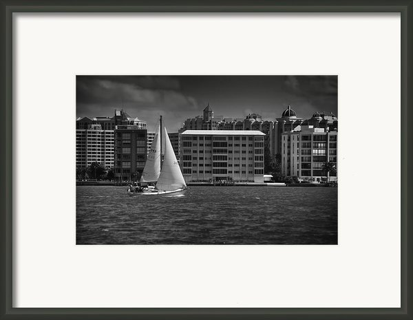 Sailing Away  Framed Print By Mario Celzner