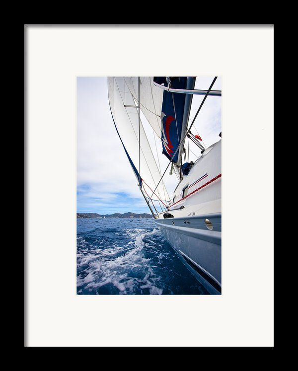 Sailing Bvi Framed Print By Adam Romanowicz