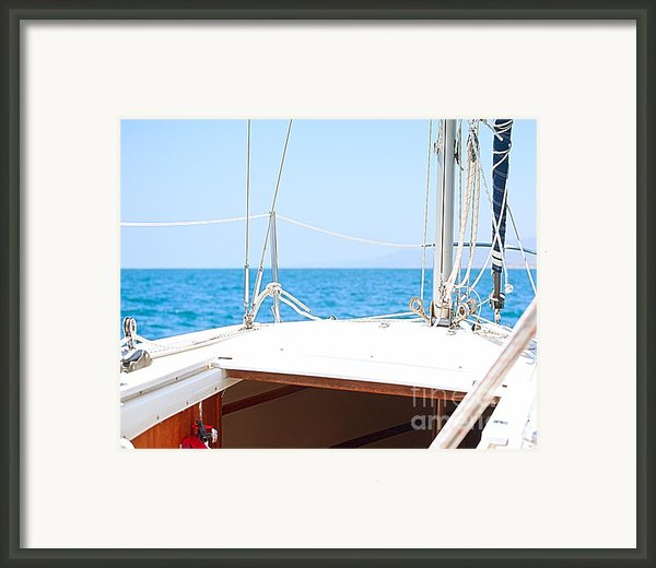 Sailing On A Fine Sunny Day Framed Print By Artist And Photographer Laura Wrede