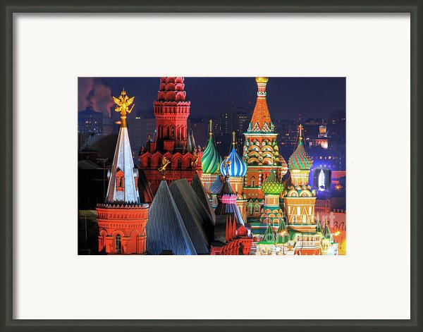 Saint Basils Cathedral On Red Square In Moscow Framed Print By Lars Ruecker