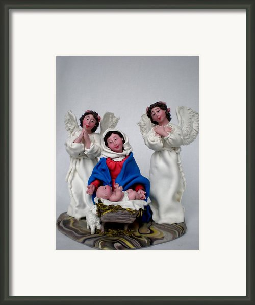 Saint Mary And Baby Jesus  Framed Print By Natalia Elerdashvili