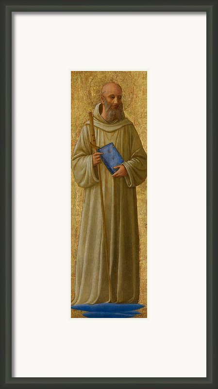 Saint Romuald Framed Print By Fra Angelico