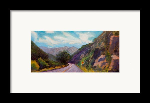 Saint Vrain Canyon Framed Print By Athena  Mantle