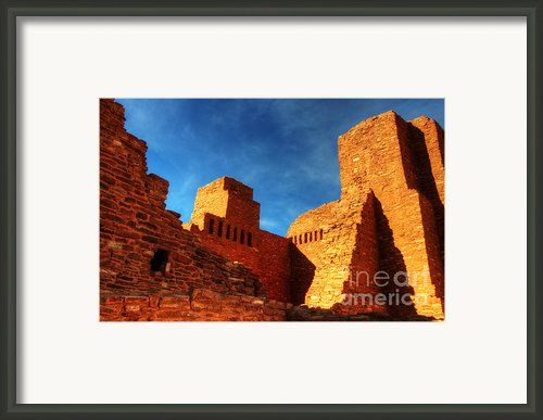 Salinas Pueblo Abo Mission Golden Light Framed Print By Bob Christopher