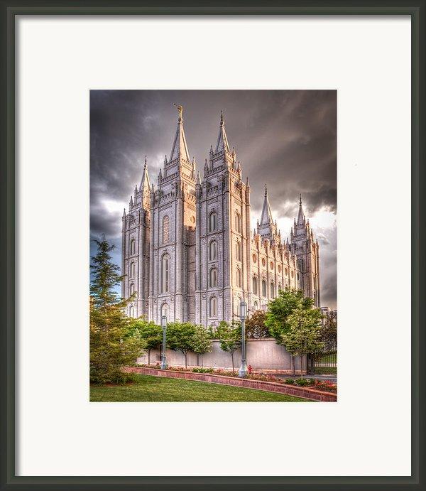 Salt Lake Temple Framed Print By Niels Nielsen