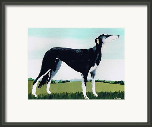 Saluki Cross Framed Print By Maggie Rowe