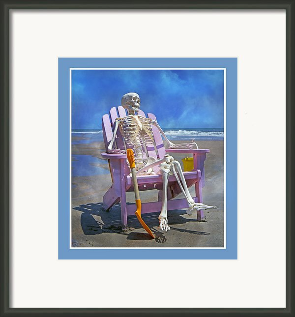 Sam Enjoys The Beach -- Again Framed Print By Betsy A Cutler Islands And Science