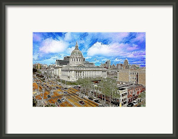 San Francisco City Hall 5d22507 Photoart Framed Print By Wingsdomain Art And Photography