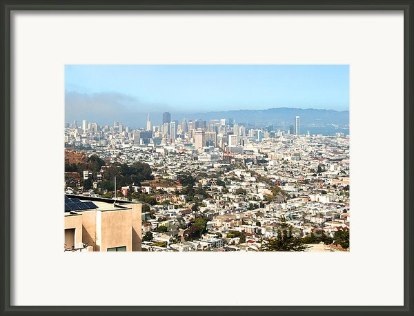 San Francisco City Vista Framed Print By Artist And Photographer Laura Wrede