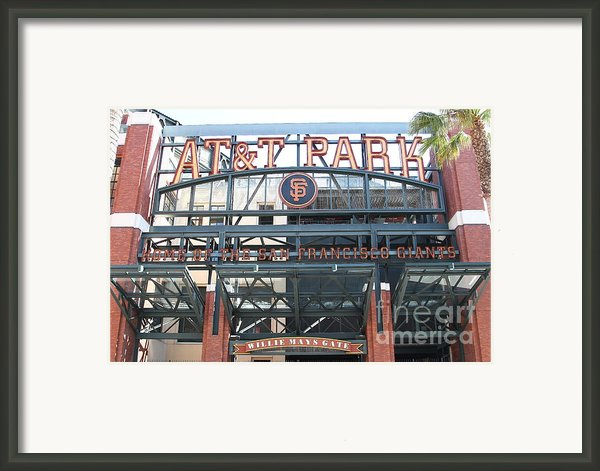 San Francisco Giants Att Park Willie Mays Entrance . 7d7635 Framed Print By Wingsdomain Art And Photography