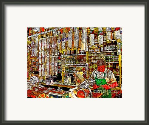 San Francisco North Beach Deli 20130505v1 Framed Print By Wingsdomain Art And Photography