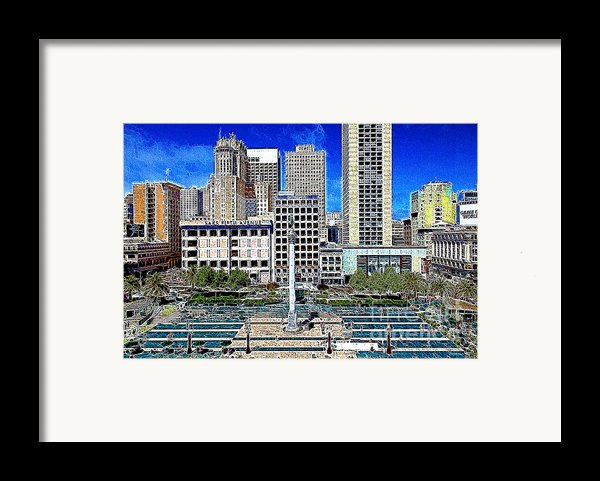 San Francisco Union Square 5d17938 Artwork Framed Print By Wingsdomain Art And Photography
