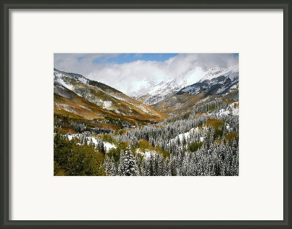 San Juan Mountains After Recent Snowstorm Framed Print By Jetson Nguyen