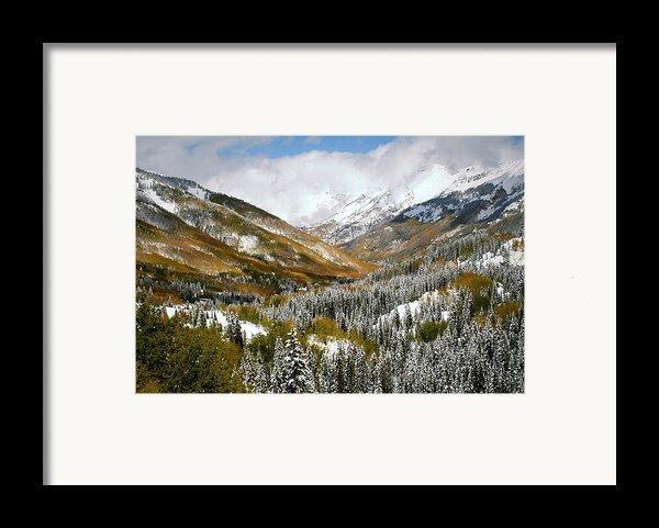 San Juan Mountains After Recent Snowstorm Framed Print By Jetson Nguyen