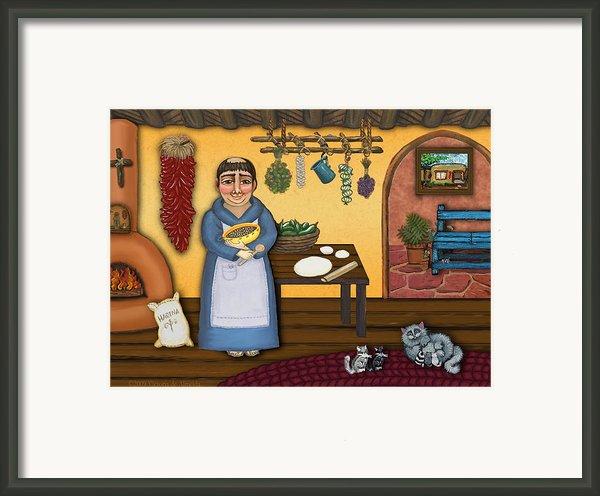 San Pascuals Kitchen 2 Framed Print By Victoria De Almeida