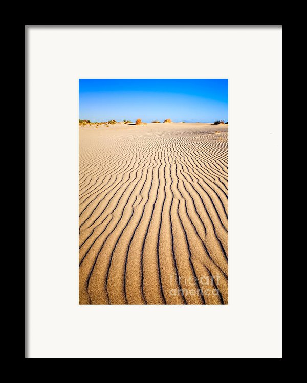 Sand Dunes At Eucla Framed Print By Colin And Linda Mckie