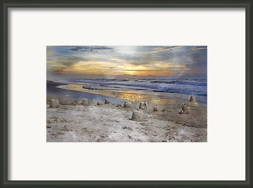 Sandcastle Sunrise Framed Print By Betsy A Cutler East Coast Barrier Islands