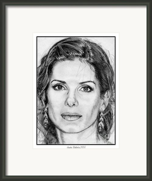Sandra Bullock In 2005 Framed Print By J Mccombie