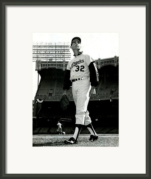 Sandy Koufax Vintage Baseball Poster Framed Print By Sanely Great