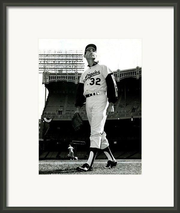 Sandy Koufax Vintage Baseball Poster Framed Print By Sanely Great