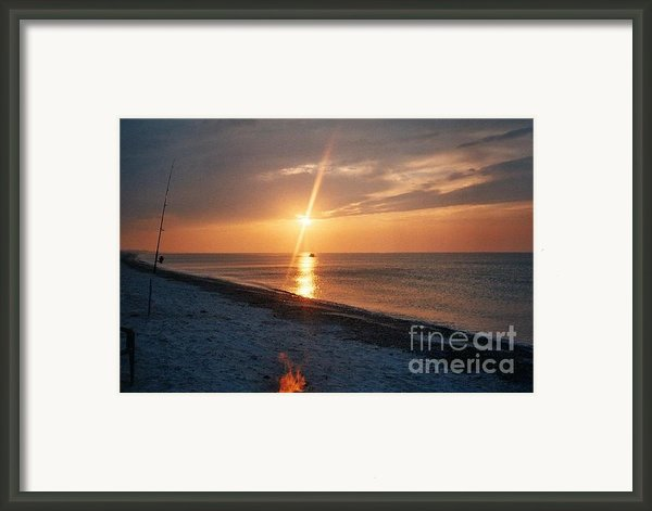 Sandy Neck Beach Sunset Framed Print By Lisa  Marie Germaine