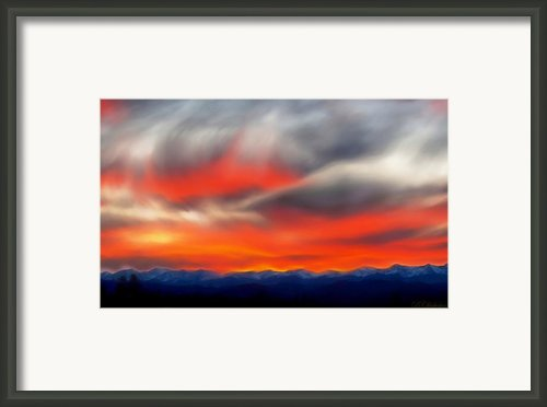 Sangre De Cristo Sunset Framed Print By Barbara Chichester