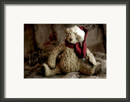 Santa Bear Framed Print By Carol Leigh