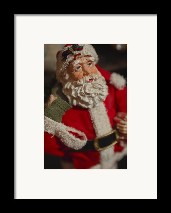 Santa Claus - Antique Ornament - 02 Framed Print By Jill Reger