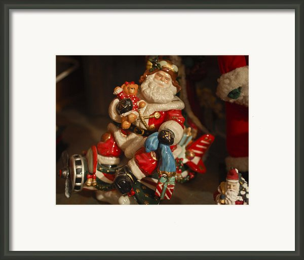 Santa Claus - Antique Ornament -05 Framed Print By Jill Reger