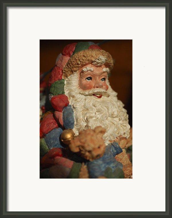 Santa Claus - Antique Ornament - 09 Framed Print By Jill Reger