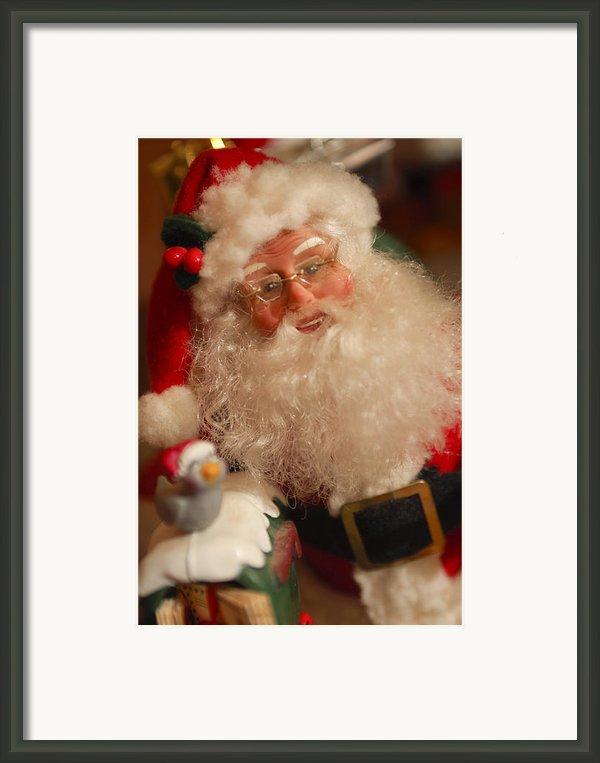 Santa Claus - Antique Ornament - 11 Framed Print By Jill Reger