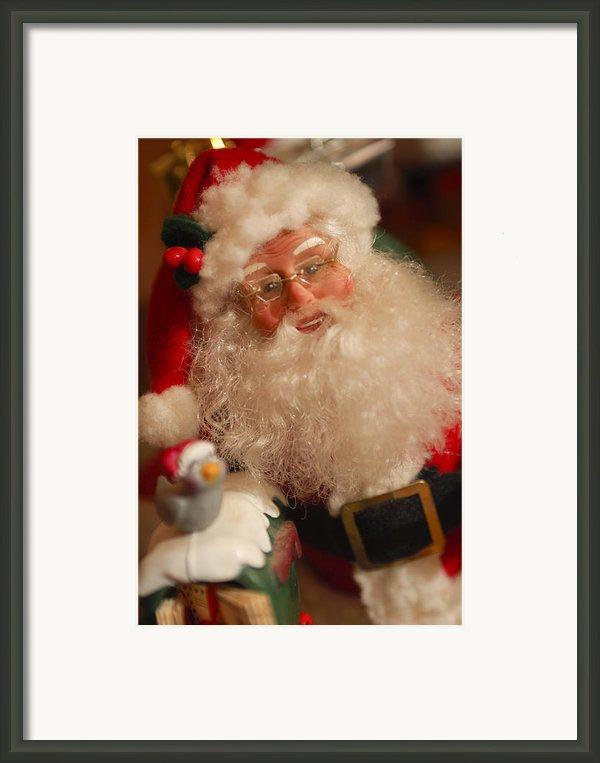 Santa Claus - Antique Ornament - 11 Framed Print By Jill Reger