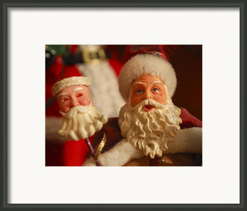 Santa Claus - Antique Ornament - 12 Framed Print By Jill Reger