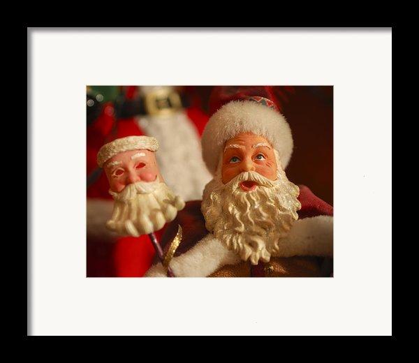 Santa Claus - Antique Ornament - 12 Framed Print By Jill Reger