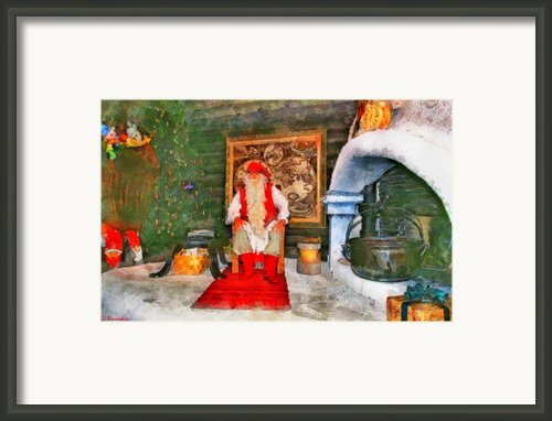 Santa Claus Framed Print By George Rossidis