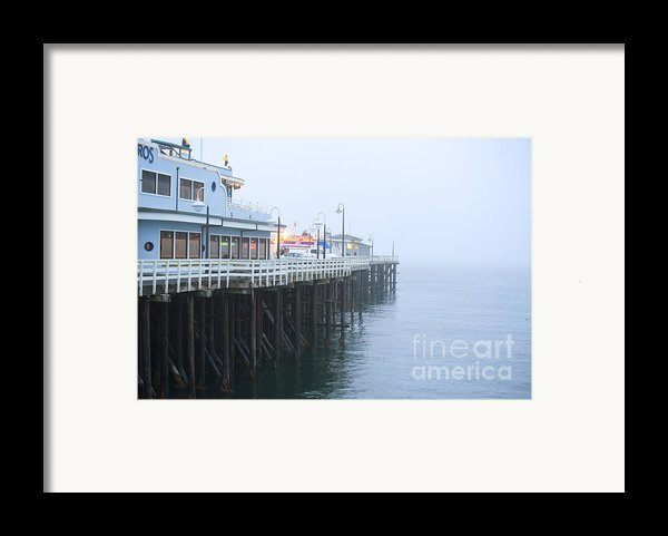 Santa Cruz Pier In The Fog Framed Print By Artist And Photographer Laura Wrede