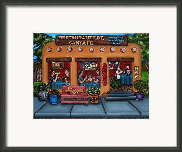 Santa Fe Restaurant Framed Print By Victoria De Almeida