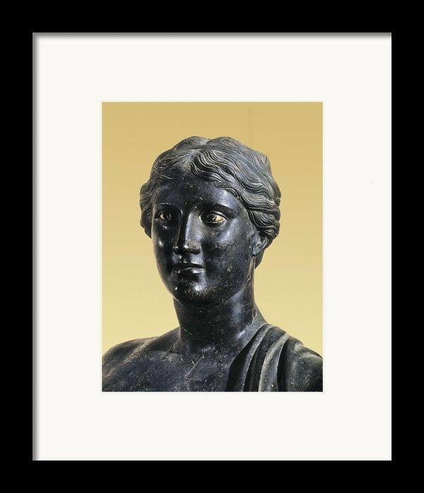 Sappho 612-545 Bc. Greek Art. Sculpture Framed Print By Everett