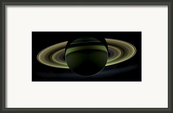 Saturns Glowing Rings Framed Print By Adam Romanowicz