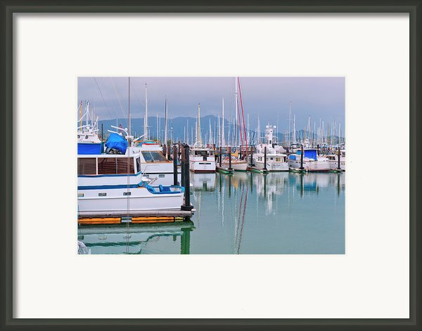 Sausalito Harbor California Framed Print By Marianne Campolongo