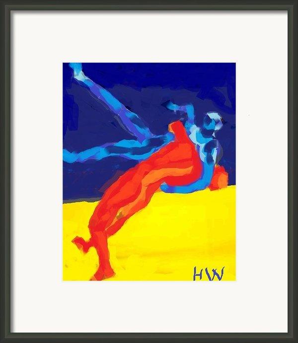Save Olympic Wrestling Framed Print By Hilde Widerberg