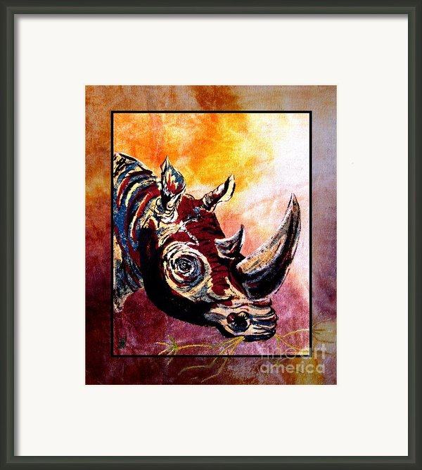 Save The Rhino Framed Print By Sylvie Heasman